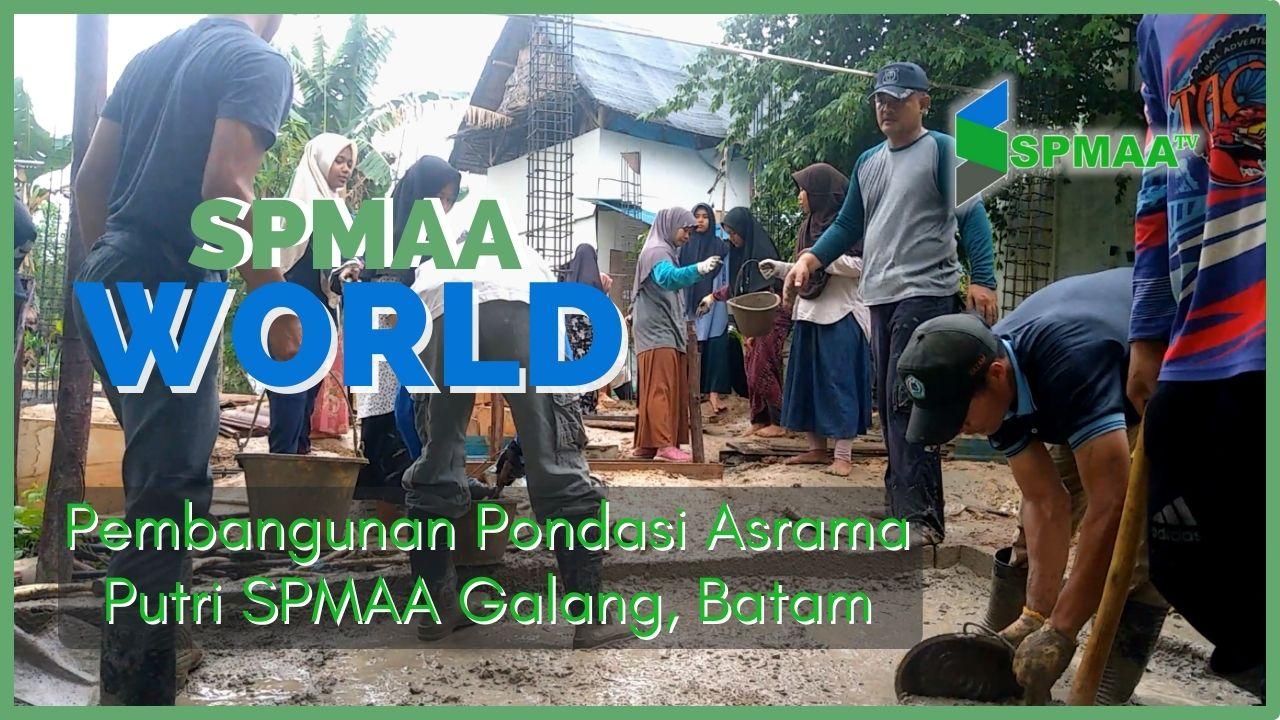 Pembangunan Pondasi Asrama Putri SPMAA Galang, Batam