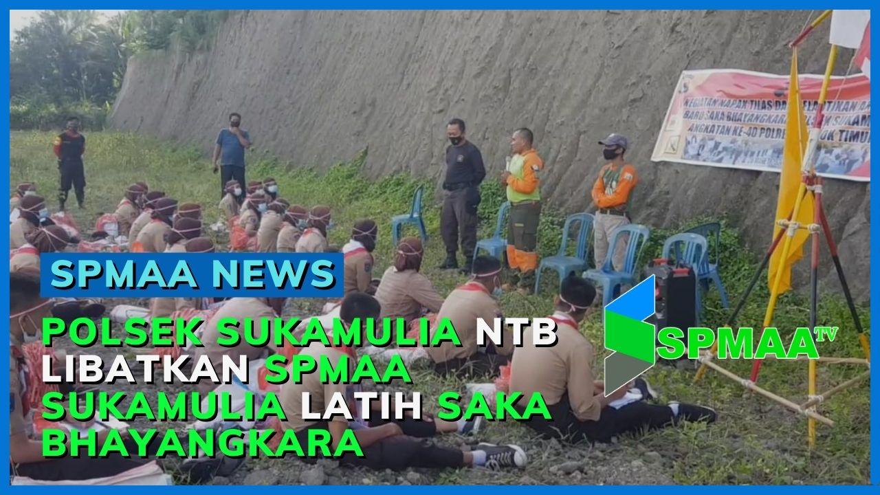 Polsek Sukamulia Lombok Timur NTB Libatkan SPMAA Sukamulia Latih Saka Bhayangkara